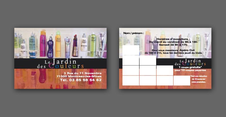Nos références- Création Cartes de visite - Le jardin des couleurs ...